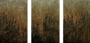 Woods - Triptych (sold)
